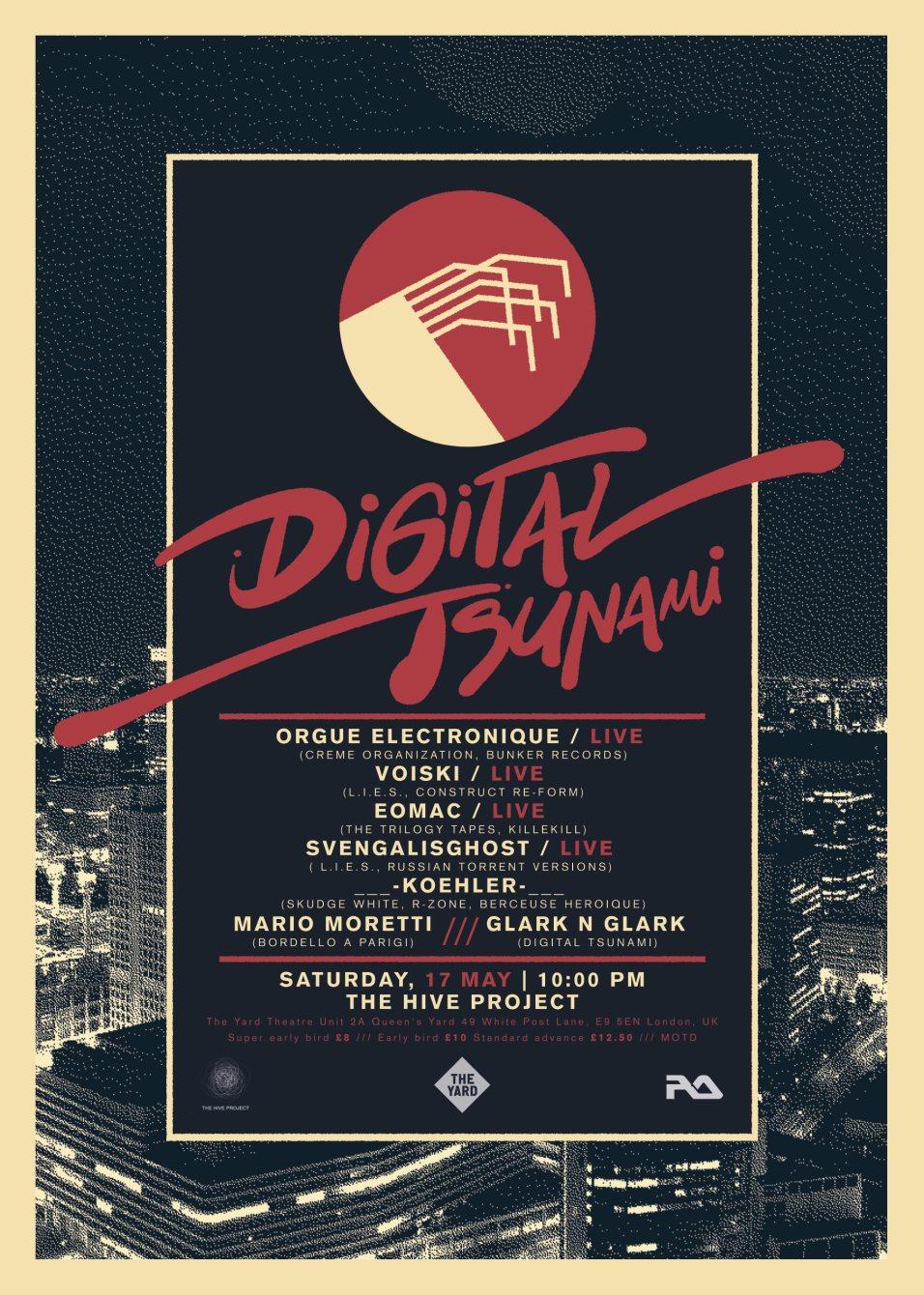 Digital Tsunami: Orgue Electronique, Voiski, Eomac, Svengalisghost, Koehler, Mario Moretti